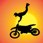 Vector silhouette of extreme jumps. - stock illustration