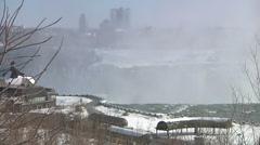 Niagara Falls In The Winter Stock Footage