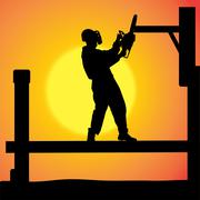 Stock Illustration of Vector silhouette of a man.