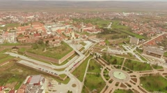 Ancient fortress in Alba Iulia, Romania - stock footage