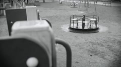 Deserted children playground - stock footage