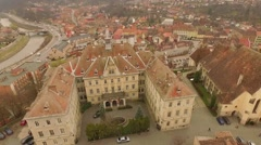 Ancient fortress in Sighisoara, Romania Stock Footage