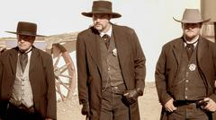 Gunfighters in the Wild West Town of Tombstone, Arizona Stock Photos