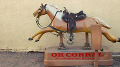 Coin-operated Horse Ride at the OK Corral in Tombstone, Arizona Stock Photos