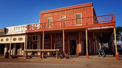 The Crystal Palace in Tombstone, Arizona Stock Photos
