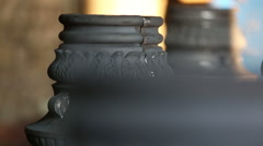 Cast iron lampposts Stock Footage