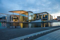 German Bundestag auxiliary buildings - stock photo