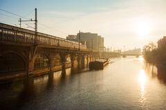 River Spree, Berlin - stock photo