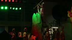 Thailand traditional show on stage - stock footage
