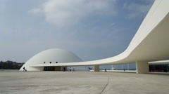 Niemeyer Cultural Centre. Modern architecture. Stock Footage