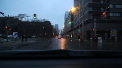 Driving at dusk in downtown Ottawa, Ontario, Canada. Stock Footage