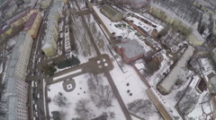 Flying over the Square In Memory of Heroes, Smolensk Stock Footage