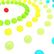 The abstract concept network of glass beads on a white background Stock Illustration