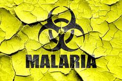 Grunge cracked malaria concept background - stock illustration
