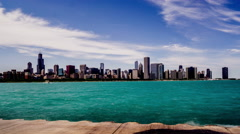 In sunny day ,the Sears Tower and Chicago skyline, Chicago, USA - stock footage