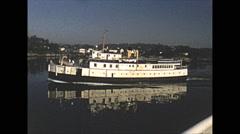 Vintage 16mm film, 1952, entering Victoria harbour old boats Arkistovideo