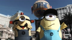 Minions In Las Vegas Stock Footage