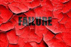 Grunge cracked Failure sign with some smooth lines - stock illustration