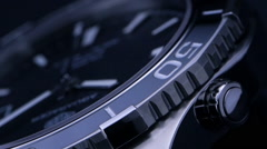 Luxury watch - macro studio shot Stock Footage