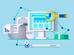 Seo concept design flat - stock illustration