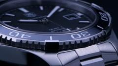 Luxury swiss mechanical watch studio shot - stock footage