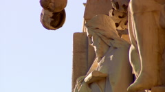 Pan Right to Stone Sculpture Stock Footage