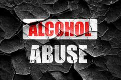 Stock Illustration of Grunge cracked Alcohol abuse sign