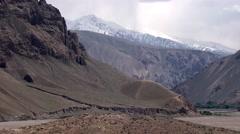 Badakhshan, on the way to Ishkashim, Afghanistan (1).mp4 Stock Footage