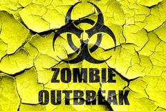 Grunge cracked zombie virus concept background Stock Illustration