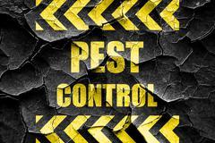 Grunge cracked Pest control background Stock Illustration
