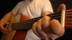 Rusty sounds on an acoustic guitar Stock Footage