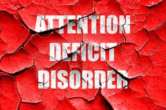 Grunge cracked Attention deficit disorder Stock Illustration