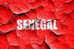 Grunge cracked Greetings from senegal - stock illustration