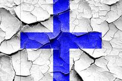 Grunge cracked Xray maritime signal flag - stock illustration