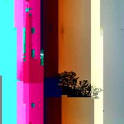 Stock Illustration of colored abstract glitch art design background