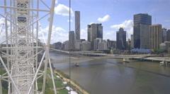 Brisbane City from The Wheel Of Brisbane , Queensland, Australia 4K Stock Footage
