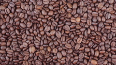 Coffee beans horizontal panning video Stock Footage