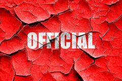 Grunge cracked official sign background Stock Illustration