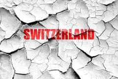 Grunge cracked Greetings from switzerland Stock Illustration