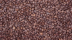 Coffee beans  zoom in HD video - stock footage