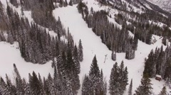 Aerial Snowbird ski resort, Utah Stock Footage
