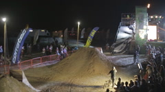 Demonstration Complex Extreme Stunts by Athlete on the Bmx Bike. the Dirt Stock Footage