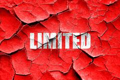 Grunge cracked limited edition sign - stock illustration