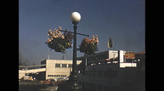Vintage 16mm film, 1952, Victoria Thunderbird park totem poles Stock Footage