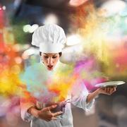 Explosion of colors in the kitchen - stock photo