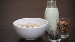 Healthy breakfast Superfood Stock Footage
