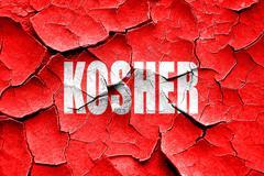 Grunge cracked Delicious kosher food - stock illustration