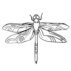 Hand drawn insect vector scribble icon illustration . - stock illustration