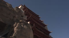Dunhuang, Mogao caves, China (4).mp4 Stock Footage