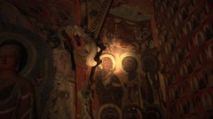 Dunhuang, Mogao caves, China (5).mp4 Stock Footage